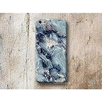 Blau Marmor Handy Hülle Handyhülle für Huawei P10 P9 P8 Lite P7 Mate S G8 Nexus 6P HTC 10 M9 M8 A9 Desire 626