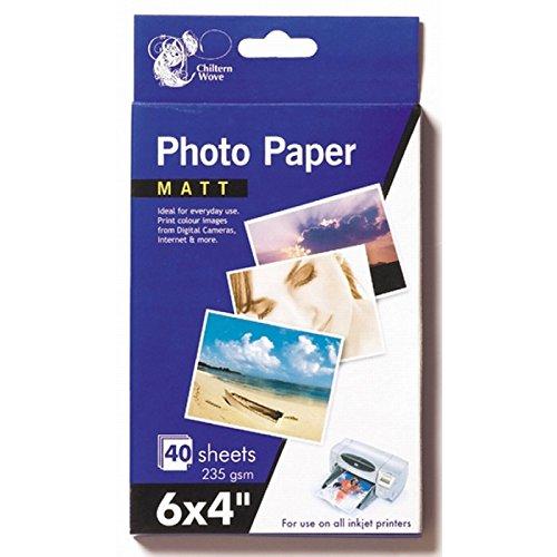 Fotopapier seidenmatt, 80Blatt, 15,2x 10,2cm, 235g/m², 2Packungen à 40Blatt