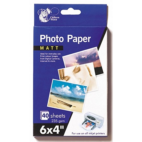80fogli carta fotografica opaca 15,2x 10,2cm 235g/2confezioni da 40