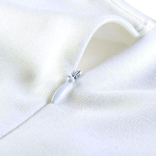 Moresave - Robe - Moulante - Femme Blanc