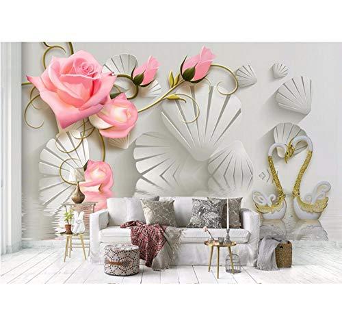 Murales De Papel Tapiz 3D Fashion Rose Decoración Fondos De Pantalla Para  La Sala Fotomurales 3D e0bc42656f33