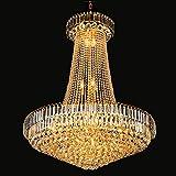 LL K9 Cristal Oendant lumière carrée Cristal Embellissement lustres pour Living Chambres à Coucher étude d'or 400x500mm