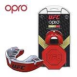 OPRO UFC - Protector bucal para MMA, Boxeo, BJJ y Otros Deportes de Combate, Red/Silver, Adulto
