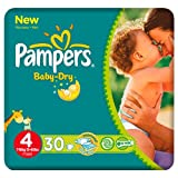 Pampers Baby Dry Größe 4 (7-18kg) Carry Pack 6 pack x 30 pro Packung