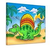 """Bilderdepot24 Bild auf Leinwand """"Kleiner Dinosaurier"""" 20x20 cm - fertig"""