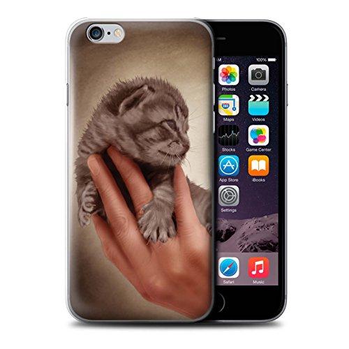 Officiel Elena Dudina Coque / Etui pour Apple iPhone 6S / Dans mes Bras/Sûr Design / Les Animaux Collection Minou/Voir