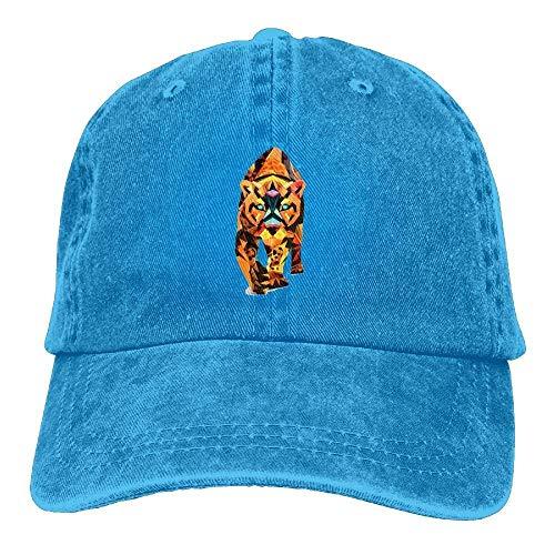 dfegyfr Geometrische Tiger Unisex Washed einstellbare Mode Cowboyhut Denim Baseball Caps Multicolor42