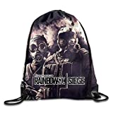 Ktmasa Tom Clancy's Rainbow Six Siege Drawstring Backpack Sack Bag