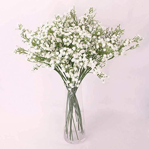 ZUEN Künstliche Simulation Gypsophila, Mode 10 Stück weiße Gypsophila künstliche gefälschte schöne Blume Home Party Hochzeit Dekor Blumen,White