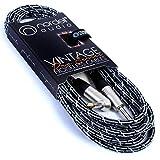 Intrecciato Vintage Noiseless chitarra elettrica/basso piombo 4,9m/5M angolare/Jack Dritto, Black Angled Jack Cable