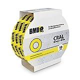 3 x BMD - Cral Klebeband (Gelb - 60mm x 40lfm) zur Verklebung von Dampfsperrfolien, Dampfbremsfolien, Dampfbremsen