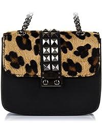 42a32d05e15 Amazon.es  Bolso leopardo - Piel  Zapatos y complementos