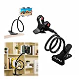#1: Photron PHMH50 Universal Flexible Portable Foldable 360 Degree Mobile Phone Smartphone Holder Stand for Car Office Home Bed Desk Table for Apple iPhone Samsung Moto Redmi OnePlus Lenovo, Black