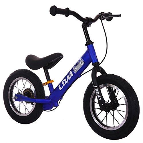 Lvbeis Draisienne avec Frein Enfant Vélo sans Pédale pour 2-8 Ans Bicyclette,Blue
