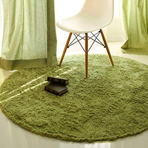 FIOFE/Runde Teppich Studie Teppich Drehstuhl Teppich Couchtisch Schlafzimmer Korb (Farbe : Gras-Grün, größe : Diameter 1.2m) (Teppich-korb)