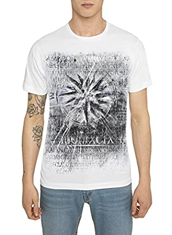 Mens Designer Metallic Fashion White, Black Tee Shirts Rock Band Style Prints – NAUTICAL STAR - Exceptional Quality 100 % Cotton Jersey T Shirt - Crew Neck Short Sleeve Trendy Gold, Silver Tops For Men - Stars Il Partito Collare