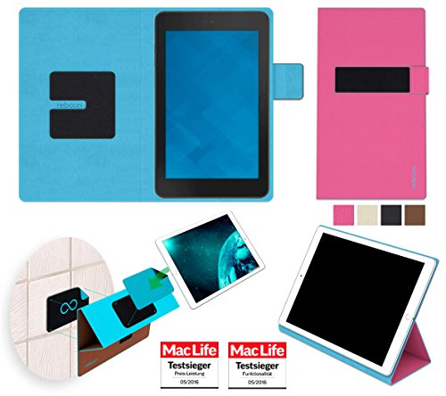 reboon Hülle für Dell Venue 7 Tasche Cover Case Bumper | in Pink | Testsieger