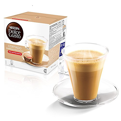 Kaffeepads Kapseln Dolce Gusto Original Caffe Macchiato und Cappuccino 64 Cortado Espresso Macchiato...