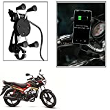 Vheelocityin Spider Bike Mobile Holder with USB Charger Mototrcycle Mobile Holder BracketFor Mahindra Centuro NXT