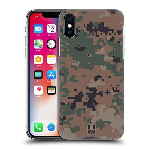 Head Case Designs Acu Mimetico Militare Serie 2 Cover Retro Rigida per Apple iPhone X Foresta Di Marpat