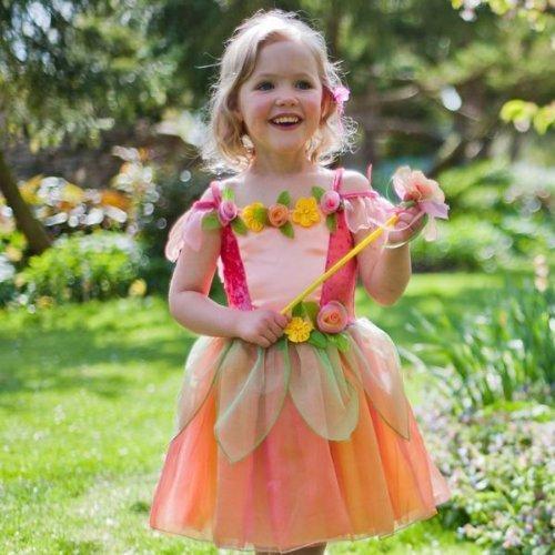 Fairy Flower Kostüm Childrens - Girls Toddler Quality Spring Summer Peach Melba Flower Fairy 2 - 3 Years by Travis