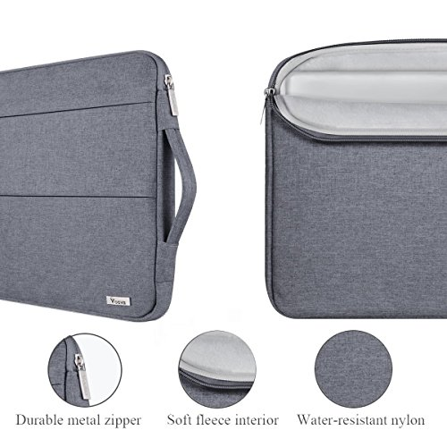 Voova H-laptop-sleeve-handheld-grey-15.6