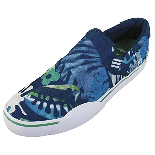 Chaussures Adidas Gonz Slip - Bleuni / Green / White-Bleu Bleu