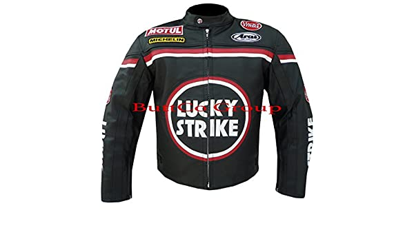 LUCKY STRIKE New Black//Pink Leather Biker Motorcycle Jacket All sizes!