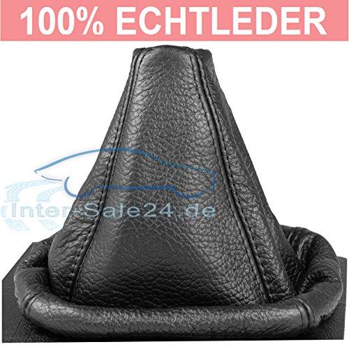 L&P A0024 Schaltsack Schaltmanschette aus 100% ECHTLEDER Leder in Schwarz