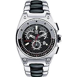Men ESQ 7301262 Fusion Fusion Retrograde Chronograph Black Dial