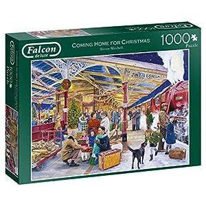 Jumbo Falcon de Luxe Coming Home for Christmas 1000 pcs Puzzle - Rompecabezas (Puzzle Rompecabezas, Navidad, Adultos, Niño/niña, 12 año(s), Interior)