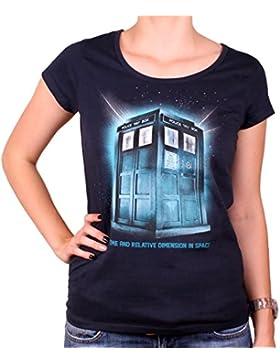 El doctor Who Tardis damas Camiseta Espacio para algodón azul serie - M