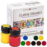 Nevskaya Palitra   Set di colori per vetro e ceramica   9 x 20 ml   lavabili in lavastoviglie   super coprenti
