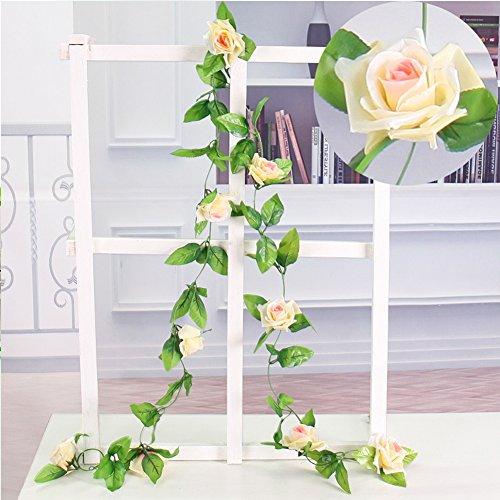 cheap4uk-artificial-9-rose-garland-flower-hanging-vine-for-home-wedding-garden-decoration-pench