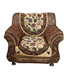 Kuber Industries™ Cream 5 Seater Cotton Sofa Cover Set -10 Pieces (Exclusive Design)