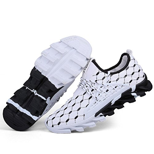 Herren Sportschuhe Atmungsaktiv Rutschfest Ausbildung Laufschuhe Ausbilder White
