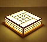 LYXG 18-W-Studie mit hellen Holzmöbeln Deckenleuchte LED-Leuchten japanischen Tatami-Matten Lampe (350mm*350mm*120mm), weißes Licht