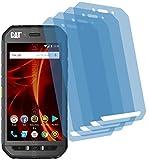 4ProTec 4X Crystal Clear klar Schutzfolie für Caterpillar CAT S41 Bildschirmschutzfolie Displayschutzfolie Schutzhülle Bildschirmschutz Bildschirmfolie Folie