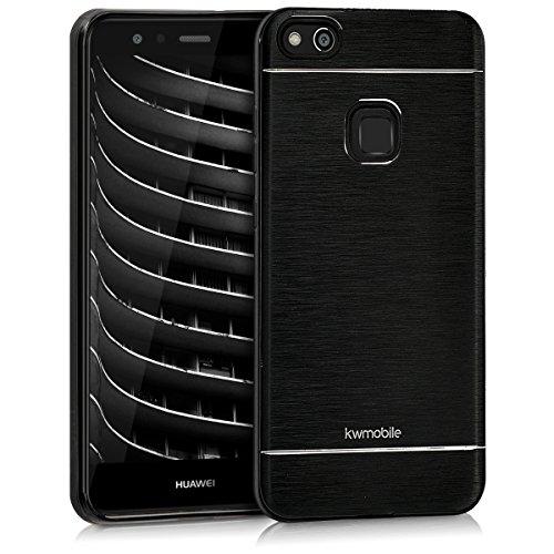 kwmobile Huawei P10 Lite Hülle - Aluminium Handy Schutzhülle - Cover Case Handyhülle für Huawei P10 Lite - Schwarz