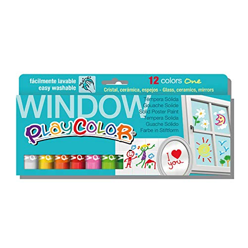 Playcolor 936010 - Pack de 12 temperas sólidas