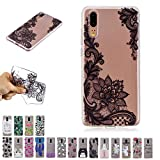 V-Ted Coque Apple iPhone XR Fleur Dentelle Silicone Ultra Fine Mince Bumper Housse Etui Cover Transparente avec Motif Dessin Antichoc Incassable