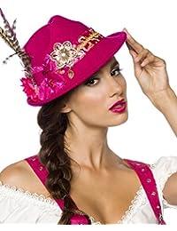 Trilby Fancy Dress Hat With Flowers and Feathers Oktoberfest Fancy Dress Ladies