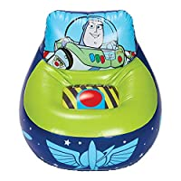 Disney Toy Story 288TOY 4 Kids Inflatable Gaming Chair, Blue & Green