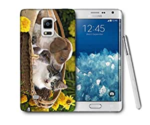 Snoogg Loving Puppy Printed Protective Phone Back Case Cover For Samsung Galaxy NOTE EDGE