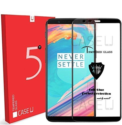 Case U Full Glue OnePlus 5T 3D Tempered Glass, Full Edge-to-Edge 3D Screen Protector