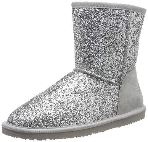 Dockers by Gerli Unisex-Kinder 45SV704 Mokassin Boots, (Silber 550), 34 EU