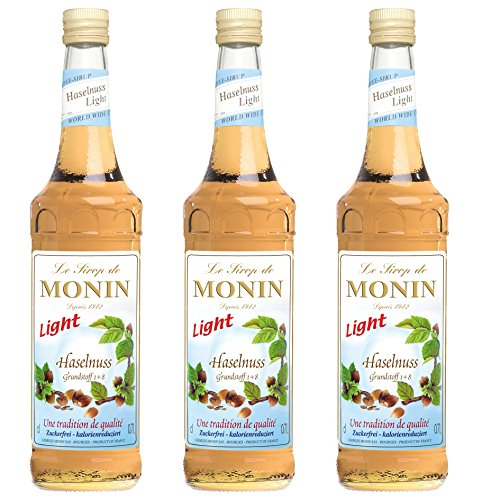 Monin Sirup Haselnuss Light, 0,7L 3er Pack