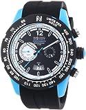 Nautec No Limit Herren-Armbanduhr XL Zero-Yon 2 Chronograph Quarz Kautschuk ZY2 QZ/RBPCBKBK-BL