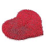 WINOMO Premium Herz formte Anti-Rutsch Mikrofaser Chenille flauschige Schlafzimmer Stock Badteppiche Teppich Matte 50x60cm