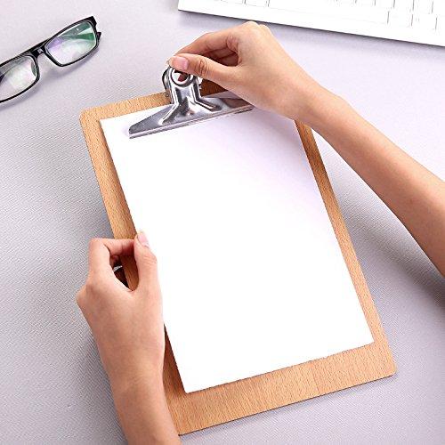peino 16K Datei Klemmbrett Abgerundete Ecken Pflicht Clip Menu Board mit Loch zum Aufhängen (Holz)